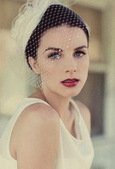 gorgeous makeup & veil