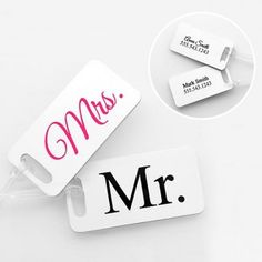 Off to the honeymoon tags!