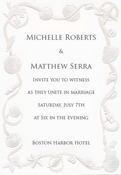 Seashells and beach themes are great ideas for Budget Wedding Invitations. This Beach Wedding Invitation - Seashell Medley (50 Pack) would be a great hit in your seaside wedding theme!