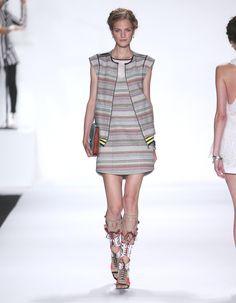 Rebecca Minkoff Look 15: Barrio Tweed Cordoba Vest Barrio Tweed Frida Dress