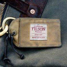 8b53ebf3f43 The only Filson Tin Cloth product I have left as a luggage tag 💼 Tin cloth