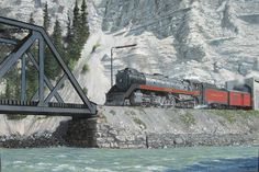 In the Kicking Horse Canyon by Max Jacquiard presented by Hambleton Galleries