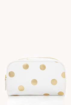 Metallic Polka Dot Cosmetic Bag | FOREVER21 - 1000066239
