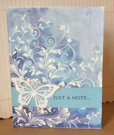 Watercolor Resist with Leafy Vines and Distress Inks - love the colors on this, and the blending!