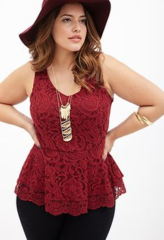 Scalloped Lace Top | FOREVER21 PLUS - 2000060019