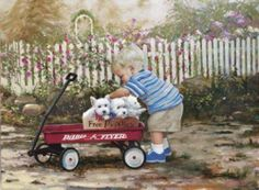 Lovely painting. So precious and cute! :)