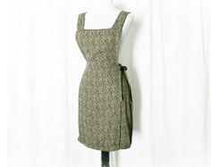 Vintage 90s Grunge Floral Suspender Wrap Apron Dress M - PopFizzVintage, $29.00