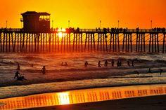 Oceanside Pier - Sunset in Summer. July 15, 2013