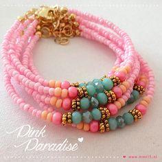 Pink Paradise bracelets | www.mint15.nl