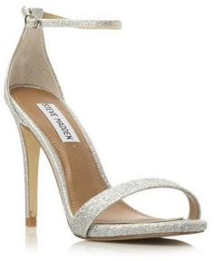 STEVE MADDEN STECY SM - SILVER Two Part Ankle Strap Heel Sandal