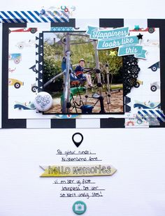 """Andrine og Marens Landhandleri - Blog - """"Happiness looks like this"""" layout created by Dt Stine."""