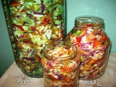 Pickles, Cabbage, Canning, Vegetables, Recipes, Food, Winter, Salads, Winter Time