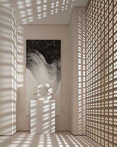 "Kimberley Harrison Interiors on Instagram: ""Screens & Shadows ⠀⠀⠀⠀⠀⠀⠀⠀⠀ #KHIinspiration: @interiorplusdesign"" Lobby Interior, Interior And Exterior, Interior Design, Wood Architecture, Architecture Details, Screen Design, Wall Design, Living Style, Hotel Corridor"