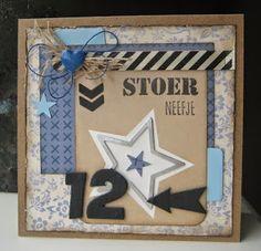 Photo by Boukje Van der Weit Marianne Design, Masculine Cards, Happy Birthday, Blog, Frame, Handmade, Vintage, Happy Aniversary, Hand Made