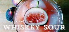 Black Jack Fig Whiskey Sour by Salt & Smoke