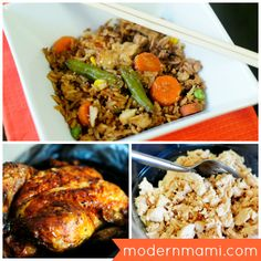 Simple chicken fried rice recipe with only 5 ingredients! #recipes #dinner