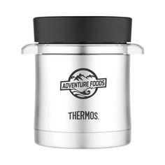 Thermos(TM) vacuum insulation technology for maximum temperature retention, hot or cold. Durable stainless steel interior and exterior. Tritan(TM) copolyester inner liner is microwave and dishwasher safe. Wide mouth is easy to fill, eat from and clean. Cool to the touch with hot liquids, sweat-proof with cold. Patent pending. Keeps hot for 4 hours. Keeps cold for 6 hours. 12 oz
