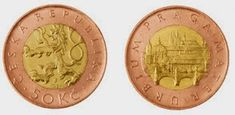Курсовая монета: 50 крон, 1993 г.
