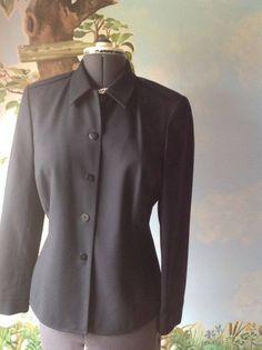 Liz Claiborne Wool Black Long Sleeve Blazer Suit Jacket SZ 10 #LizClaiborne #Blazer