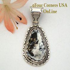 Four Corners USA Online - White Buffalo Turquoise Pendant Navajo Artisan Ida McCray NAP-1649, $99.00 (http://stores.fourcornersusaonline.com/white-buffalo-turquoise-pendant-navajo-artisan-ida-mccray-nap-1649/)