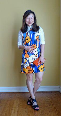 #zara dress #landsend shirt #colehaan clutch #geox wedges