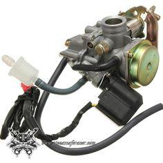 """28,07€ - ENVÍO GRATIS - Carburador Modelo """"Sport"""" de 19mm Para Motor GY6 QMB + Filtro de Gasolina"""