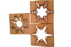 Christmas Craft Snowflakes - ready to paint, varnish or use as a stensil