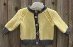 Hand Knitted Baby Cardigan 0-3 Months  £15.00