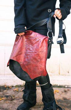 IN vendita borsa a tracolla in pelle nera / stravagante Tote