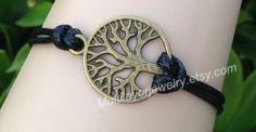 Chain bracelet,Beadwork bracelet, Bangle bracelet, Leather bracelet, Custom Bracelet, The tree of life Charm Bracele,Bronze bracelets