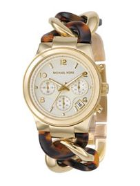 Michael Kors chain link watch.