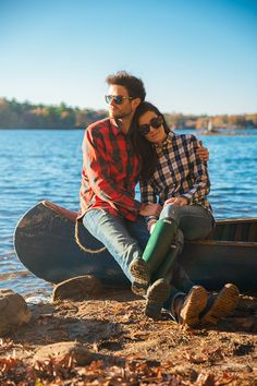 Fall style & love - plaid, Hunter boots and Bean boots