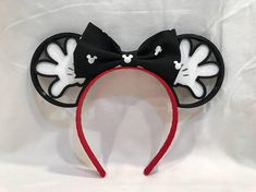 Disney Headband Or Bow Faux Leather Sturdy Construction Hair Accessories