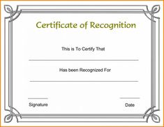 Printable Certificate Of Recognition Templates Free Printable Certificate Of Recognition Templates Free . Printable Certificate Of Recognition Templates Free . Certificate Template Certificate Of Appreciation Sample Certificate Of Recognition, Certificate Of Participation Template, Graduation Certificate Template, Birth Certificate Template, Certificate Border, Certificate Format, Funny Certificates, Free Printable Certificates, Award Certificates
