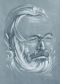 "~ Oleg Supliak ""The Old Man and the Sea"" - Hemingway"