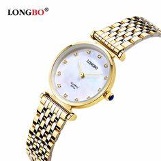 Fashion Watches Women Casual Dress Luxury Gold Ladies Rhinestone Waterproof LONGBO Brand Quartz Wrist Watches reloje mujer 8973-in Women's Watches from Watches on Aliexpress.com | Alibaba Group