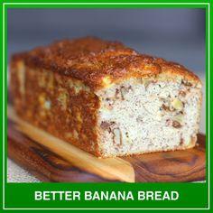 Gone keto, miss bread? Discover dozens of recipes for delicious keto breads - all with complete macros &nutrition! Best Keto Bread, Best Banana Bread, Banana Bread Recipes, Low Carb Flour, Low Carb Bread, Grain Free Bread, Protein Bread, Cookbook Recipes, Baking Recipes