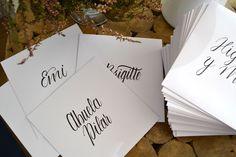 Tarjetas para mesa de invitados