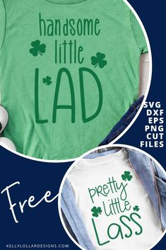 (1) Handsome Little Lad, Pretty Little Lass St. Patrick's Day Set - Kelly Lollar Designs