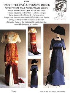 LM104 - Laughing Moon #104, 1909-1913 Edwardian Day & Evening Dress Sewing Pattern Laugh http://www.amazon.com/dp/B00NLRKKZ4/ref=cm_sw_r_pi_dp_Nwwdxb08A8DV1