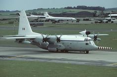 Lockheed C-130K Hercules W2 (L-382) XV208 with the Meteorological Flight at RAE Farnborough and had the nickname 'Snoopy'. Brize Norton 25th June 1984