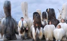 this is one of my favorite Pegan traditions. People dress in monster costumes made with real furs and leathers dance and perform to scare the real monsters away. Totems, Charles Freger, Goddess Art, Moon Goddess, Festival Costumes, Principles Of Art, Greek Mythology, Roman Mythology, Albrecht Durer