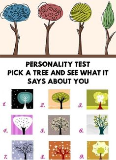 It's interesting to discover new ways to learn more about you and your personality. Pick A Tree And See What It Says About You!