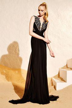 Zuhair Murad Resort 2015 Fashion Show Collection Couture Fashion, Fashion Show, Fashion Design, Net Fashion, Glamour, Black Prom Dresses, Sheer Dress, Gown Dress, Couture Dresses