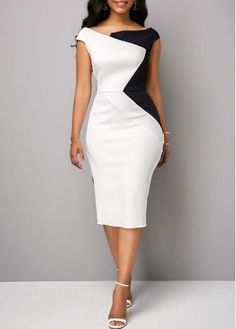 Material:Polyester Silhouette:Bodycon Dress Length:Mid-Calf Sleeve Length:Sleeveless Combination Type:Single Waist Line:Mid Waist Closure:Pullover Elasticity:Micro-Elastic Detachable Collar:No. Casual Party Dresses, Club Party Dresses, Trendy Dresses, Women's Fashion Dresses, Elegant Dresses, Nice Dresses, Short Dresses, Dresses For Work, Summer Dresses