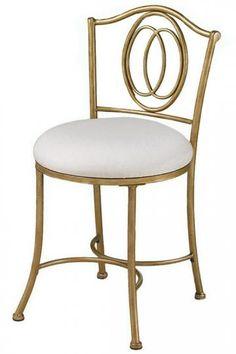 Eli Vanity Stool - Vanity Stool With Back - Vanity Stools | HomeDecorators.com