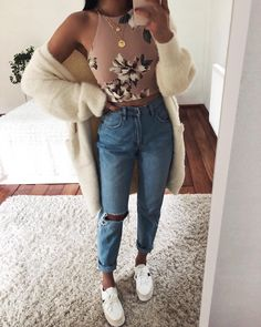 Check out this Trendy korean summer fashion koreansummerfashion is part of Outfits - Teenage Outfits, Winter Fashion Outfits, College Outfits, Cute Fashion, Fashion Fashion, Fashion Clothes, Spring Outfits, Fashion Women, Fashion Ideas