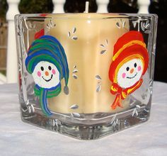 Snowman Candle Holder/ Potpourri Holder