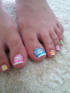 stripes-these are so cute, im so getting this with my next pedi! | See more at http://www.nailsss.com/french-nails/3/