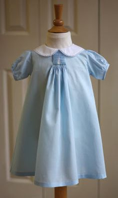 Creations By Michie` Blog: Baby Daygown With Center Smocking